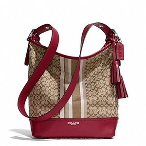 Red& Brown Coach Bag